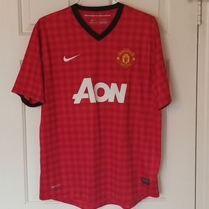 XL Nike Manchester United MUFC EUC Red Home Jersey